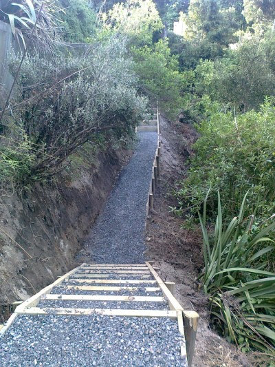 steps and path through the gully by GreenFootprint