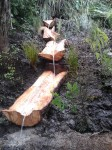 totata water feature in a Hamilton gully, designed and built by GreenFootprint